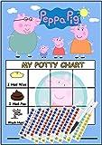 Peppa Pig Tableau de récompense d'apprentissage de la propreté (avec stickers et stylo)