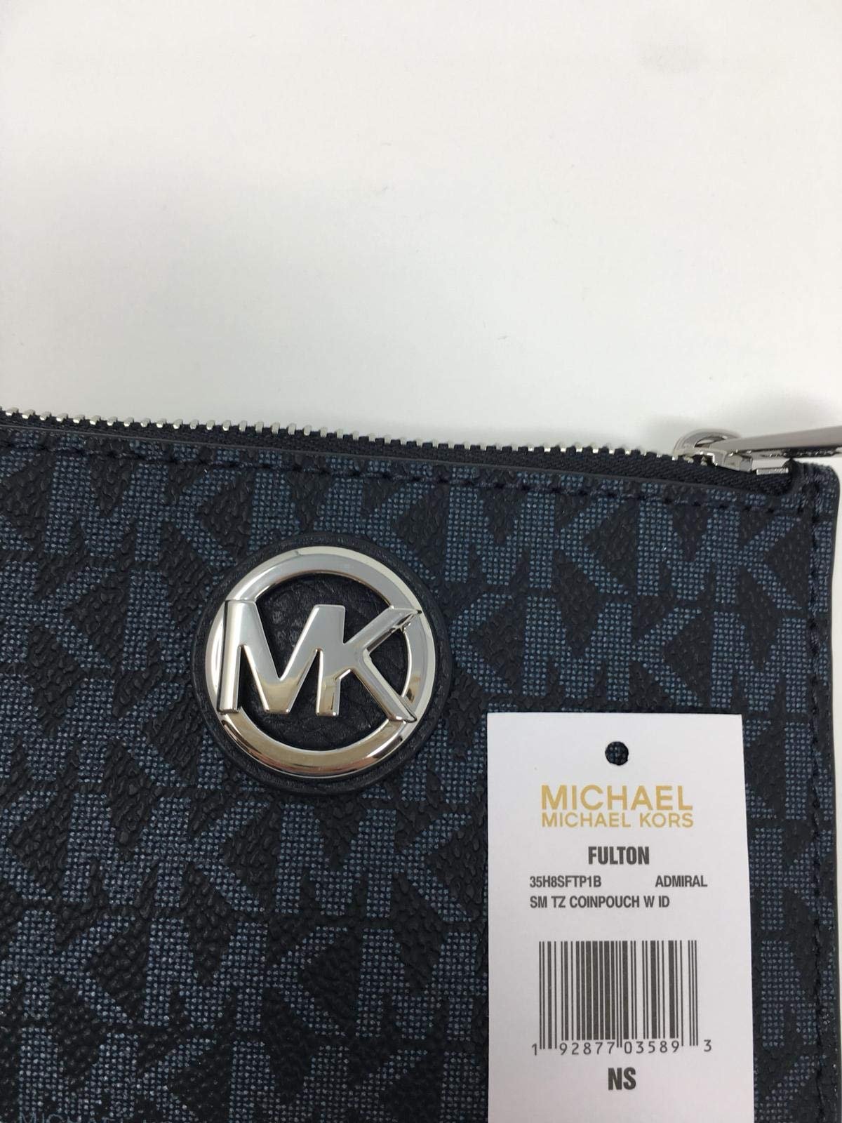 Michael Kors Fulton Small Top Zip ID Coinpouch with key Chain (Admiral) by Michael Kors (Image #3)