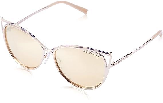 d634482752f Michael Kors Women MK1020 56 INA Pink Gold Sunglasses 56mm at Amazon ...