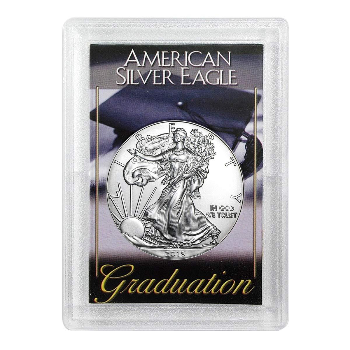 American Silver Eagle inGraduation Holder Dollar Uncirculated Us Mint 2019