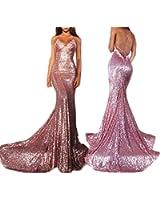 Fanciest Spaghetti Straps Sequin Lace Prom Dresses 2017 Long Mermaid Prom Dress