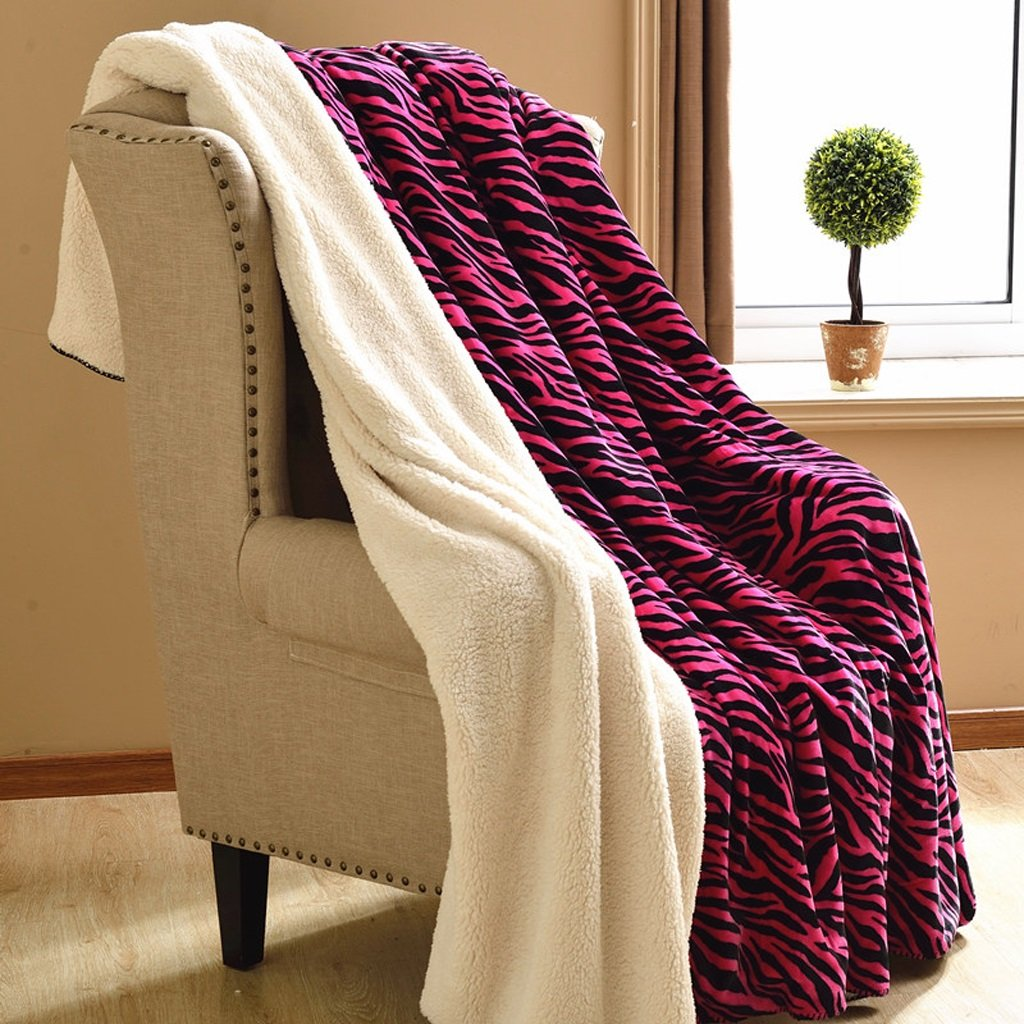 冬暖かいブランケット深いピンクと黒のストライプベッドルームベッド毛布オフィスナップブランケットリビングルームソファーブランケットと柔らかく快適な Rollsnownow (サイズ さいず : 180*200cm) B07K4ZPTSQ  180*200cm