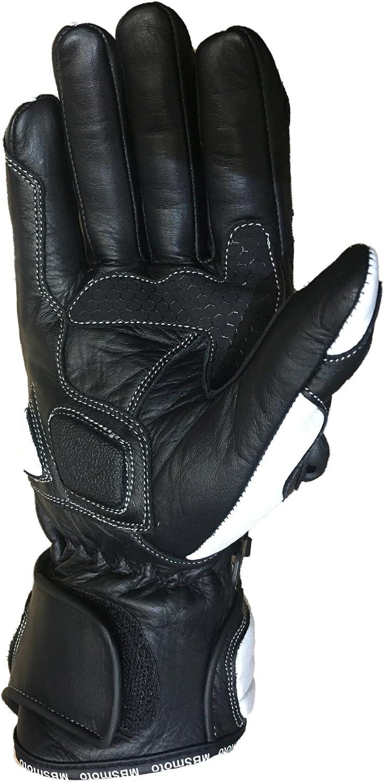 Mbsmoto MBG25/guanti da moto lunghi sportivi in poliuretano di protezione