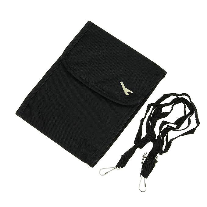 Mini Umhängetasche Handtasche, wasserdicht, klein, mehrere Taschen für Mobiltelefon, Portmonee, Karten und Reisepass, Textil, schwarz, S