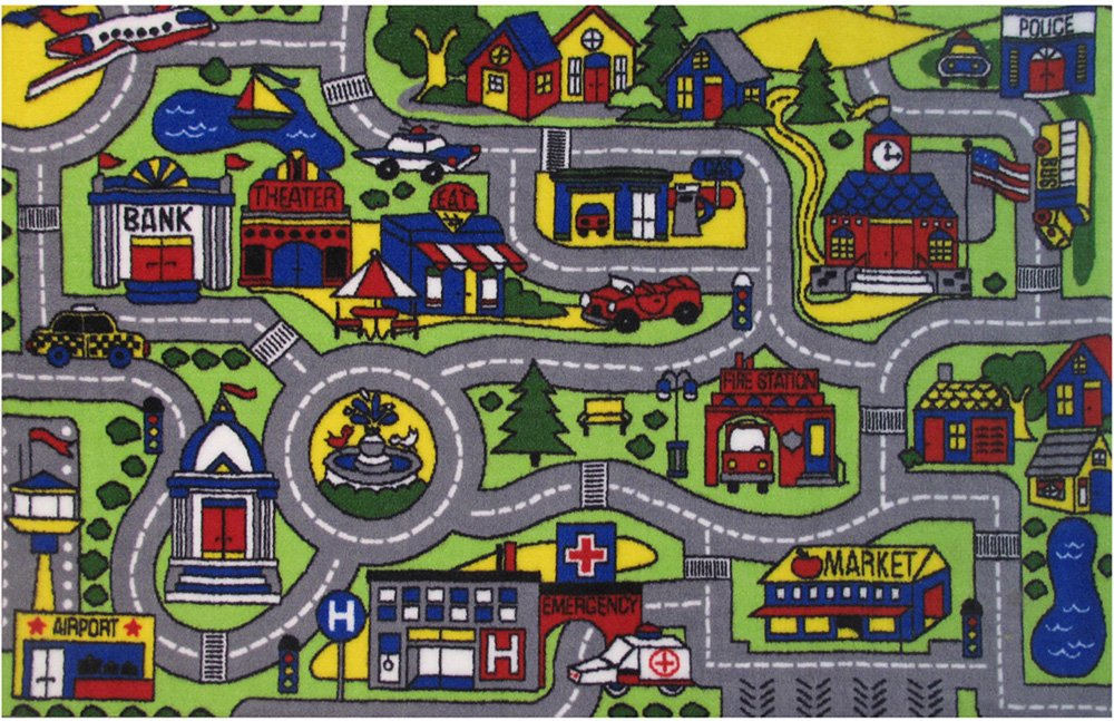 Fun Rugs Fun Time Driving Time Novelty Rug, 6'8 x 10''', Multicolor