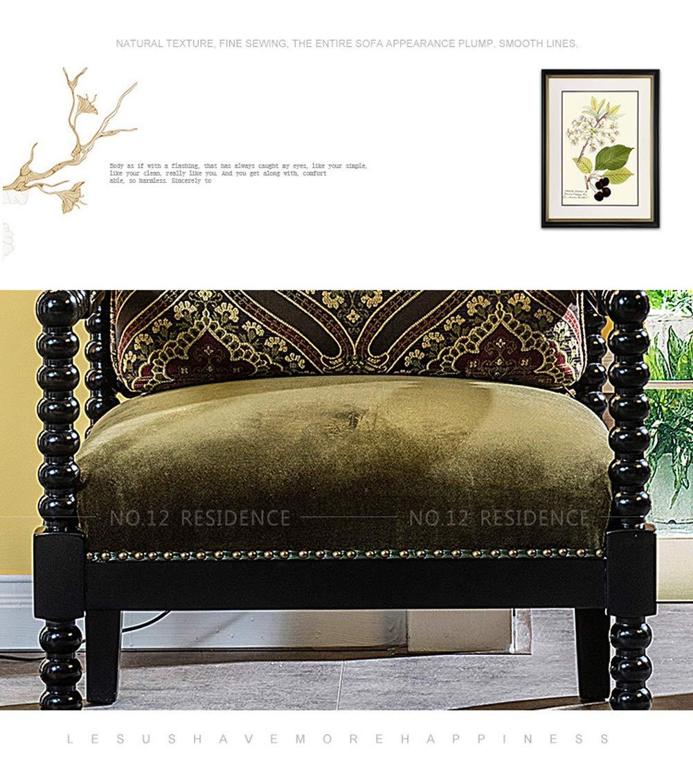 Sillón, sofá Cama Americano, salón, sillón de Madera Maciza ...