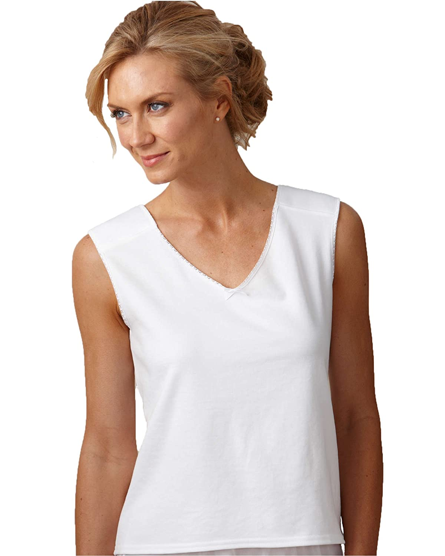 Velrose Padded Shoulder Cotton Backing Camisole - Misses, Womens 2451