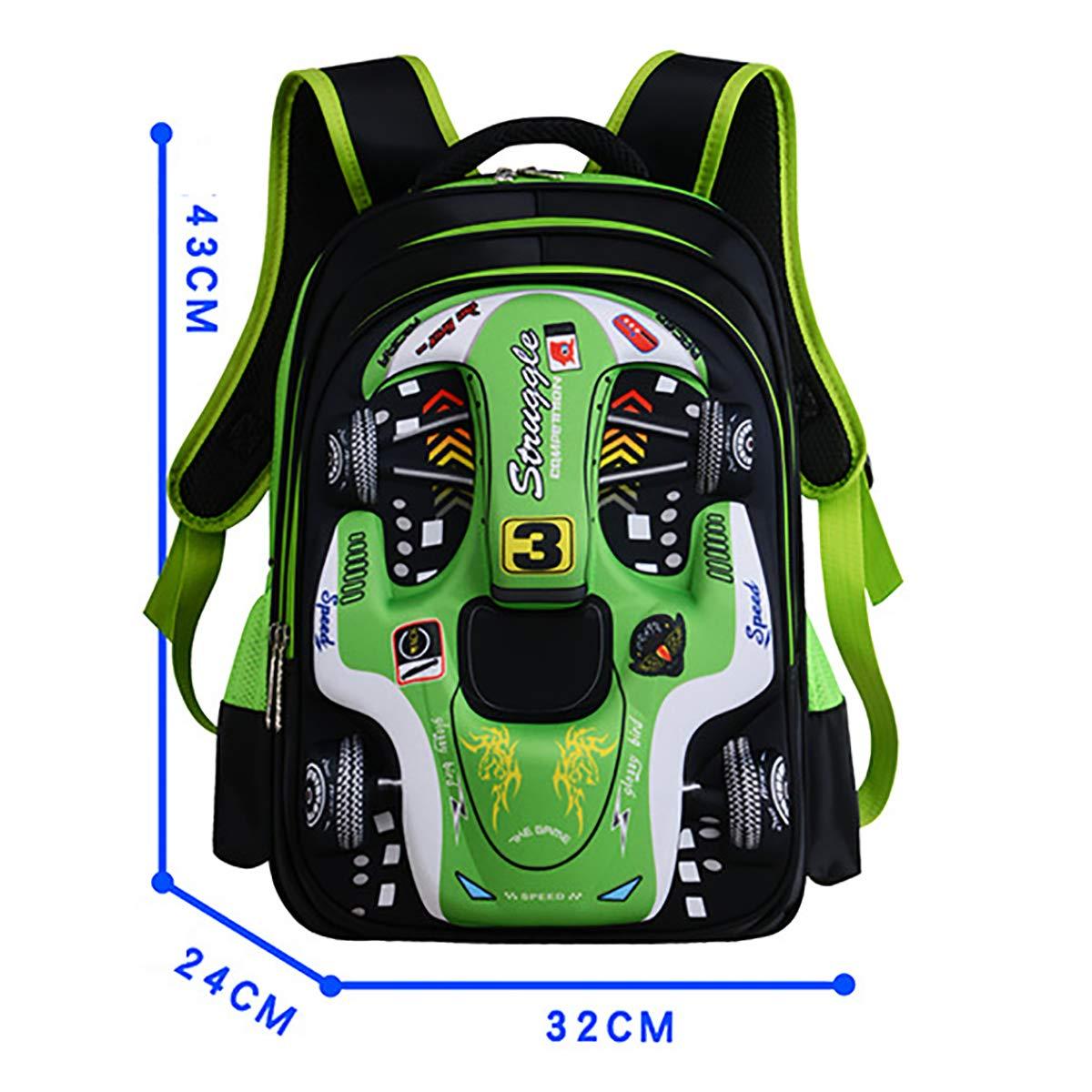 ec5efc4605d89 OOFAY Schultasche Für Jungen 3D Racing Schultern Tasche 6-12 Jahre Alt  Kinder Rucksack 12