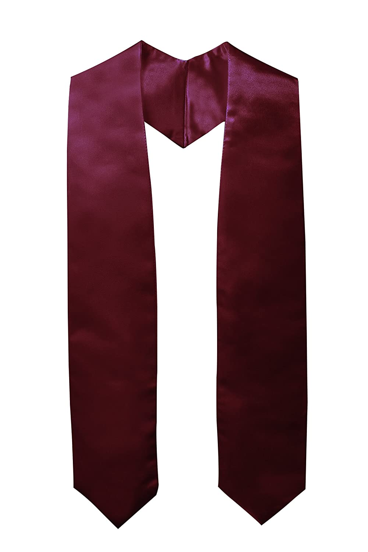 GraduationMall Unisex Adulto Pianura Laurea Stola Maroon