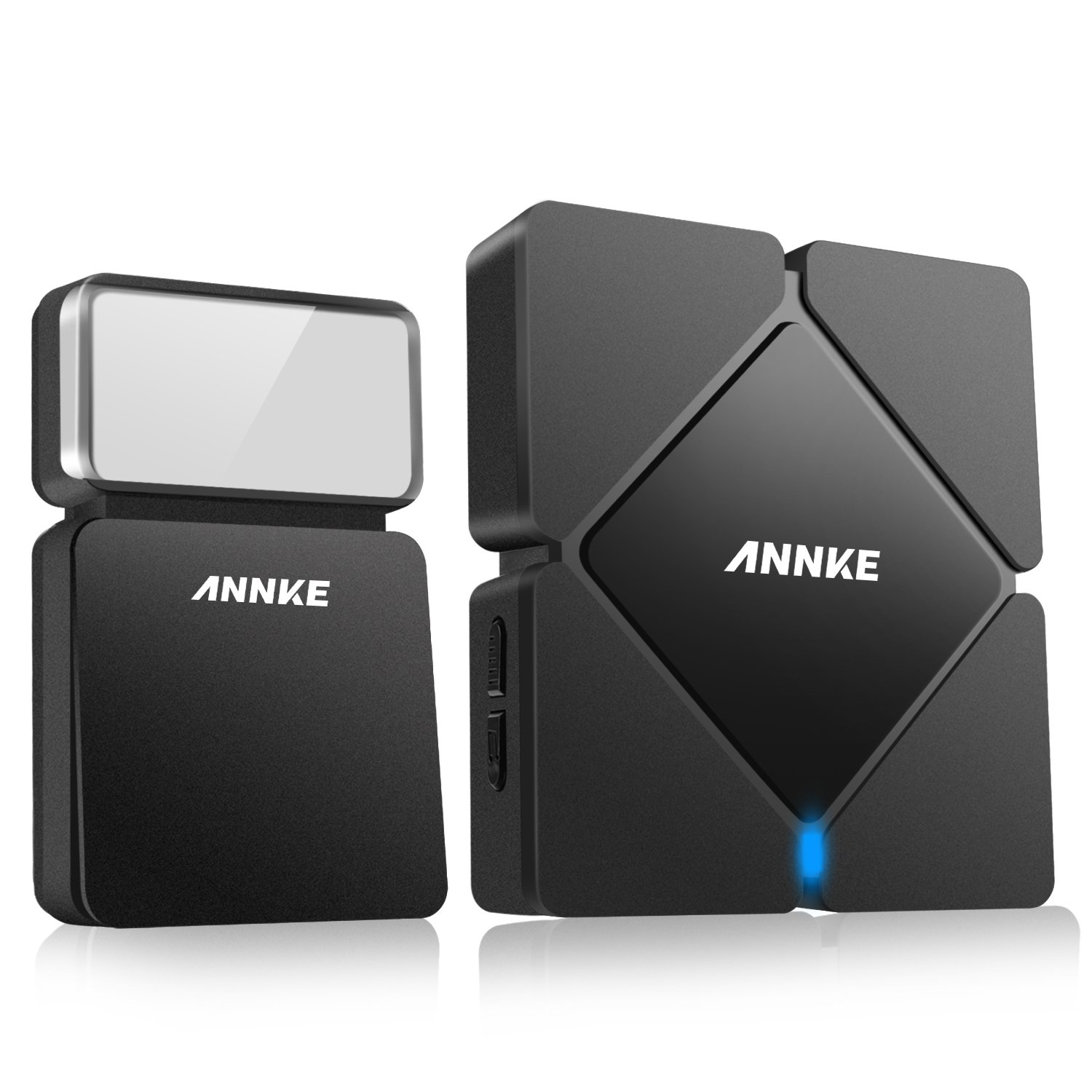 ANNKE Portable Stylish Battery-Free Wireless Doorbell, Weatherproof Door Bell Kit, 25 Selectable Melodies, 3 Adjustable Volume Levels, 100m Operating
