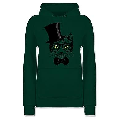 Damen Katze Gr S Gelernt Shirt