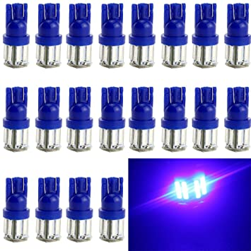 EverBright 20-Pack azul T10 / 194 / 168 / 921 W5W 7014 10 SMD