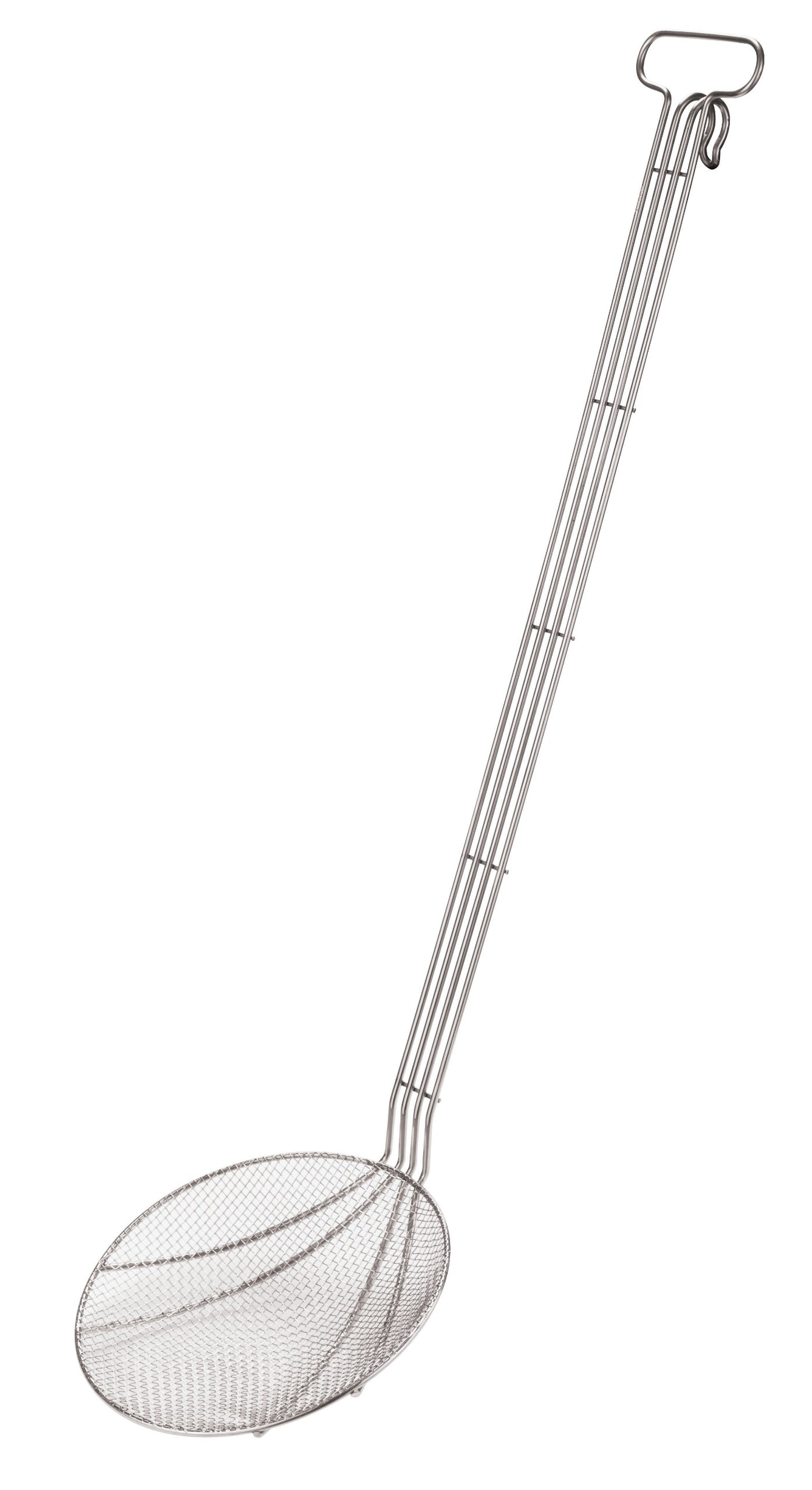 Paderno World Cuisine 11-Inch Stainless-Steel Wired Skimmer with Extra Long Handle