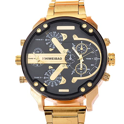SHIWEIBAO gold watches men luxury brand reloj militar sport quartz-watch