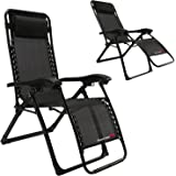 FLAMROSE UPGRADED Zero Gravity Lounge Chair with Headrest- Patio,Camping,Beach,Deck,Outdoor