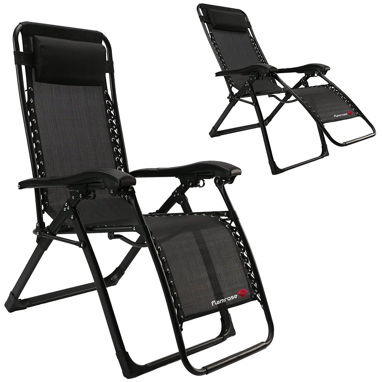 Amazon FLAMROSE UPGRADED Zero Gravity Lounge Chair with