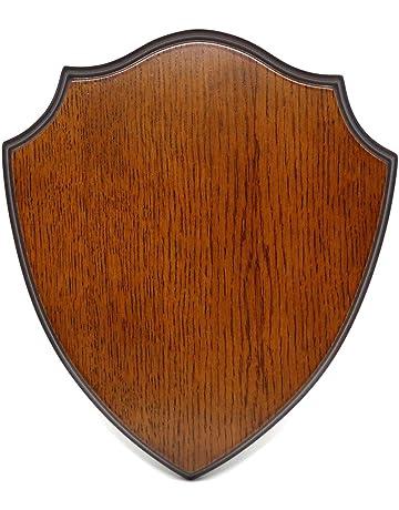 Wooden Base Shield Trophy Wood Carving Mounting Plaque For Roe Deer Horn Antler