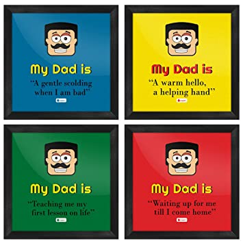 Indigifts Father Birthday Gifts My Dad Is Everything For Me Quote Indian Face Graphic Multi