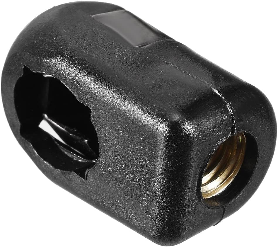 uxcell/® Gas Spring End Fitting Black Connector M8 Female Thread PA66A5 3pcs