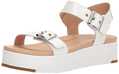 0e868b0aa5b6 UGG Women s Angie Wedge Sandal White 8 ...