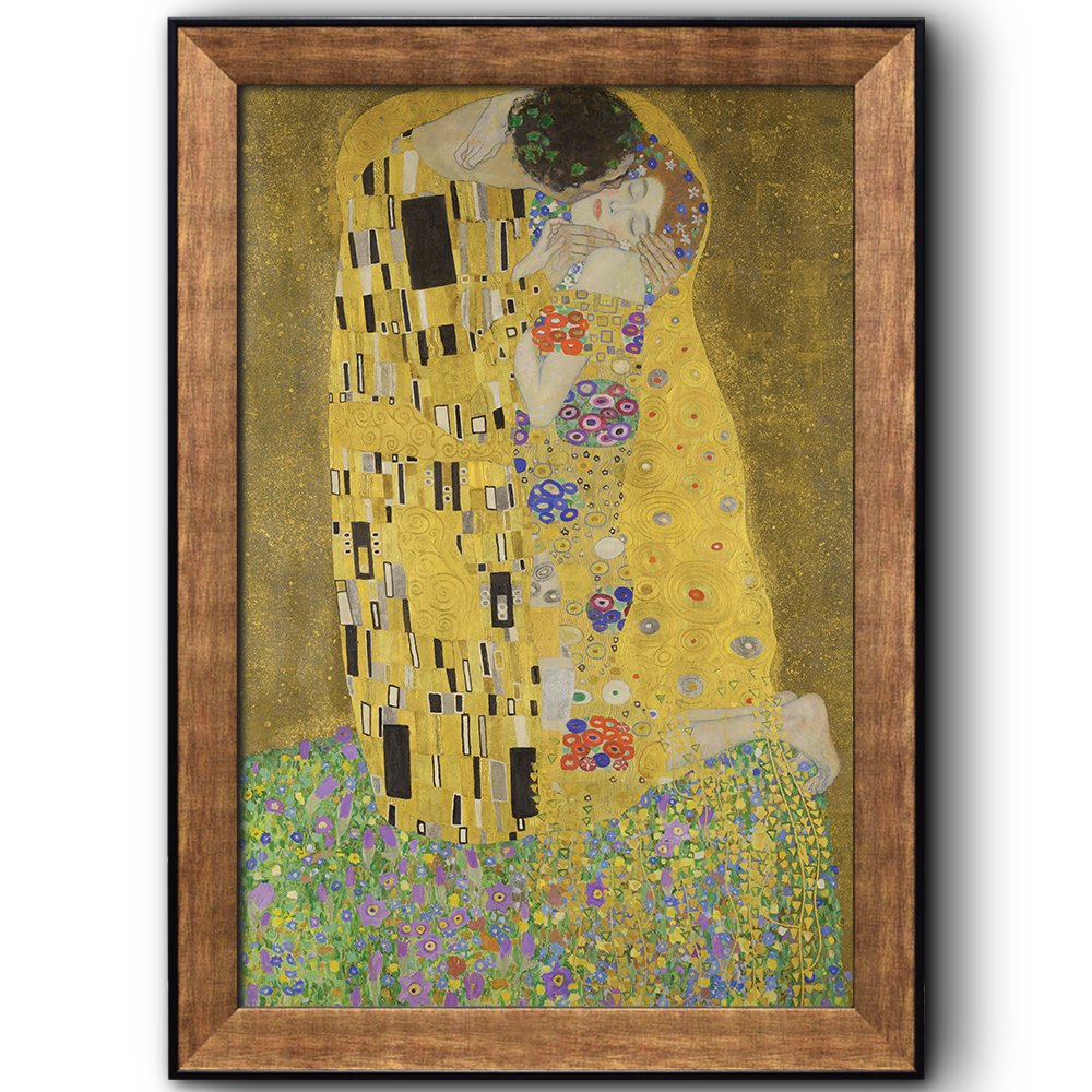 Wall26 - The Kiss by Gustav Klimt - Framed Art Prints, Home Decor ...