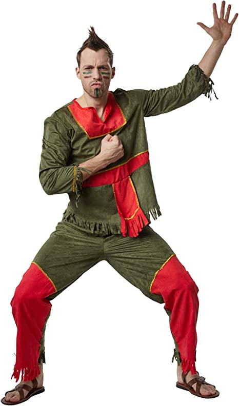 dressforfun 900526- Disfraz de Hombre Mohicano Silencioso, Disfraz ...