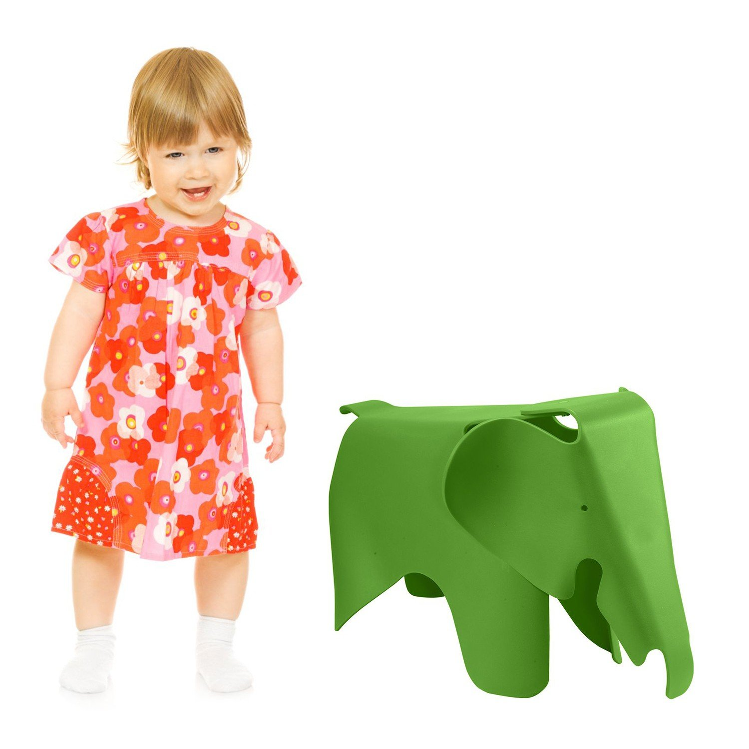 Chair Baby Elephant Style For Children Green Plastic Sillatea