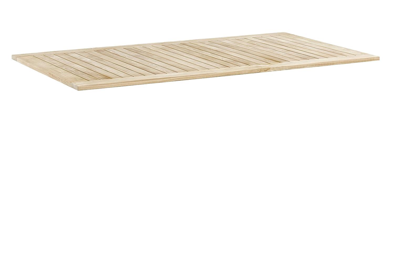 KETTLER Advantage Esstische Teak-Tischplatte 160 x 95 cm schmale Leisten Beige