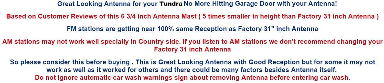 FITS TrunkNets Inc 6 3//4/″ Antenna MAST Toyota Tundra 2007 08 09 10 11 12 13 14 15 2016 2017 2018 2019 2020