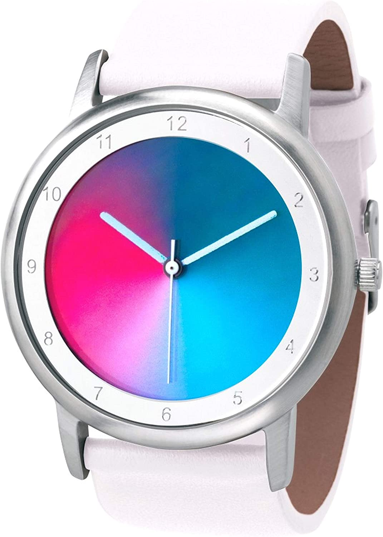 Reloj de pulsera Rainbow de Avantgardia gamma, e-motion, unisex, con carcasa de acero inoxidable