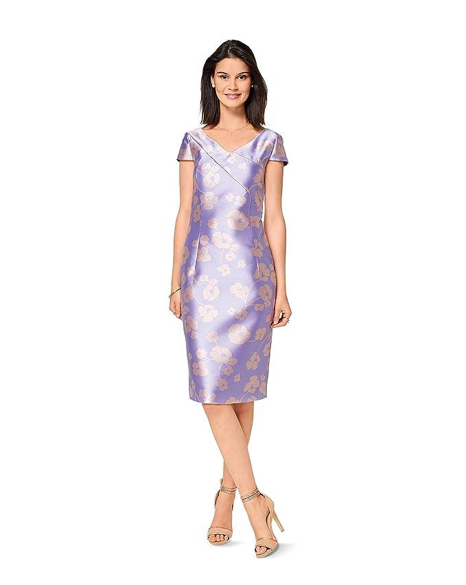 Burda 6523 Schnittmuster One-Shoulder-Kleid (Damen, Gr. 34-44) Level ...