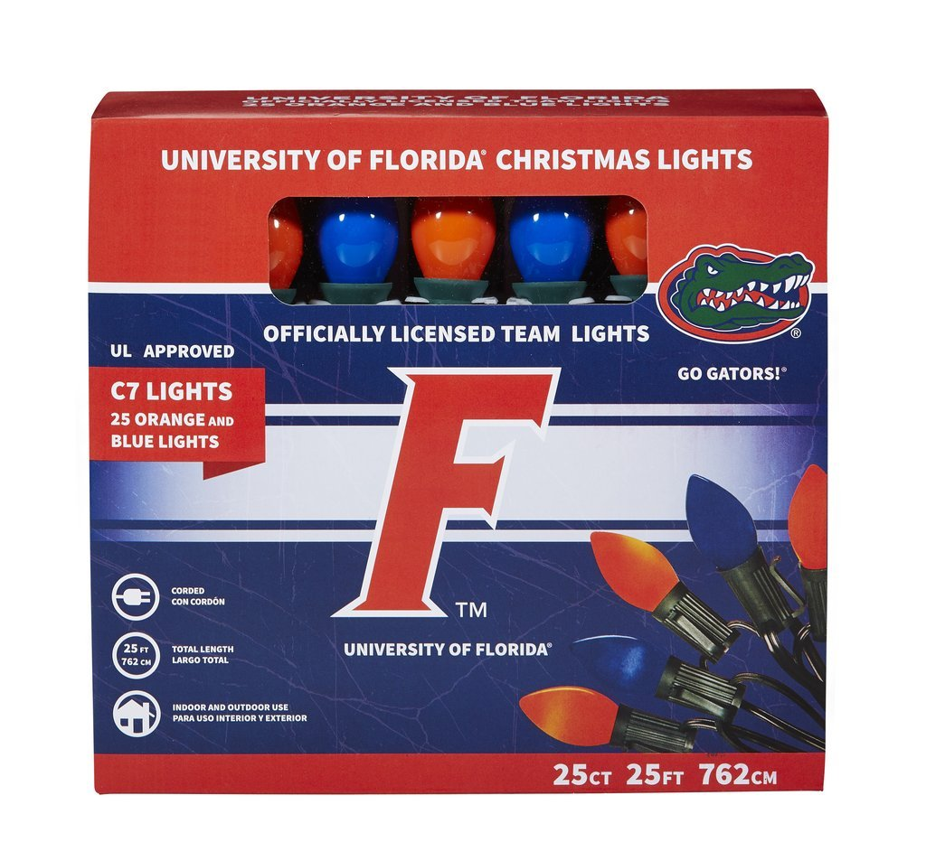 Let's Light It Up Officially Licensed College Christmas Lights (University of Florida)