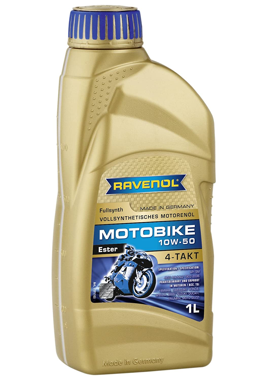 Ravenol j1 V1011 SAE 10 W50 4サイクルエンジンオートバイオイル – 4-t Full SyntheticエステルJaso MA / ma2 ( 1リットル) B00DDSLISY