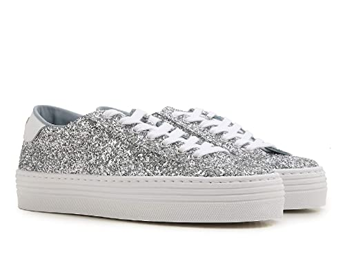 cheap for discount eee2e 4f6b7 Chiara Ferragni Sneakers Donna in Brillantini Argento con ...