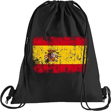 Camiseta People España Vintage Bandera Bolsa de deporte - Bolsa estampada - Una hermosa bolsa de deporte con cordones, color Negro , tamaño talla única: Amazon.es: Ropa y accesorios