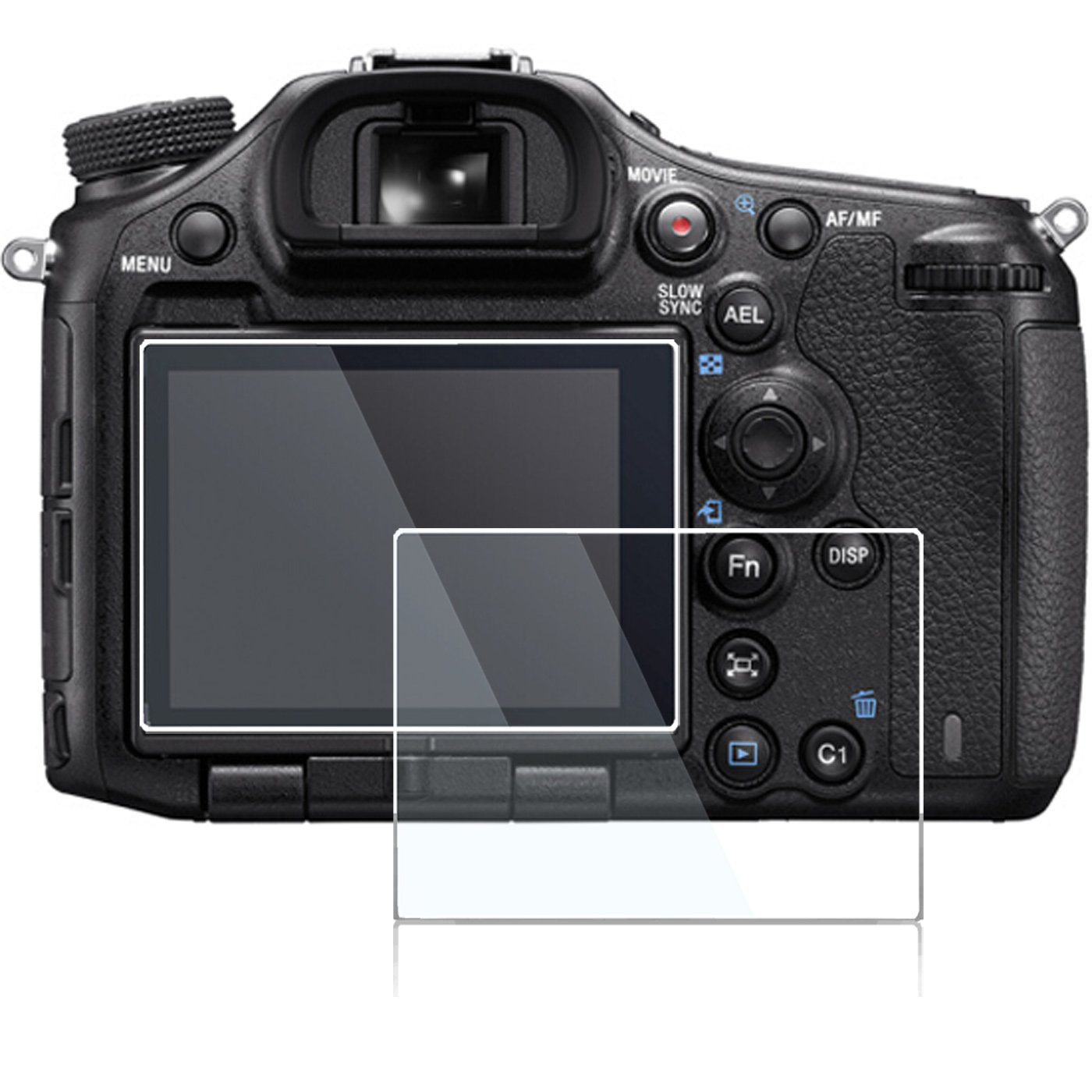 Screen Protector for Sony A7R Mark ii iii a7iii a7riii A7RII A7SII A99ii A77ii Sony DSC-RX100 VI III IV V RX100III RX100IV RX100V RX100VI RX10 III IV V,debous Anti-Finger Tempered Glass 2pack
