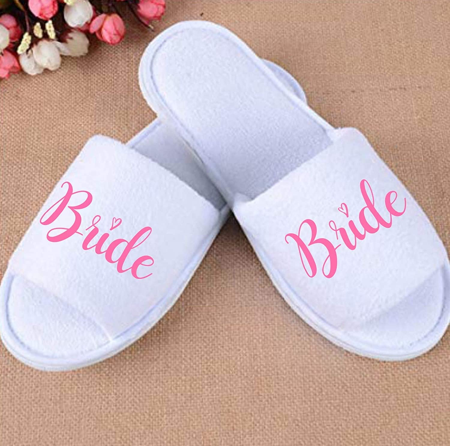 quality products outlet boutique half price Bridal Party Spa Slippers: Amazon.co.uk: Handmade