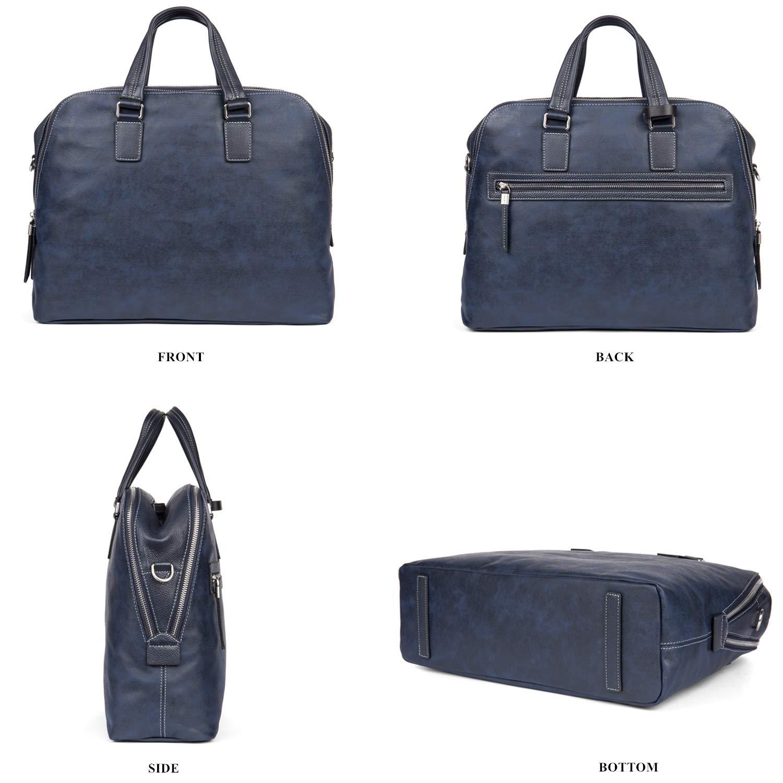 Black L/èfei Genuine Leather Breifcase Handbag Messenger Bag with Laptop Compartment Double Zipper Business Bags for Men