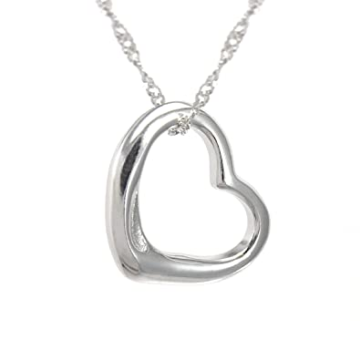 Amazon perfect love open heart sterling silver pendant perfect love open heart sterling silver pendant necklace small size mozeypictures Images