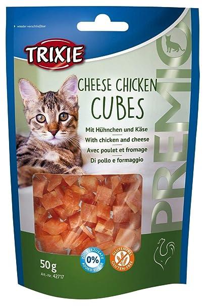 Golosinas para gatos / premios TRIXIE Cheese Chicken Cubes Pollo con Queso 50 g