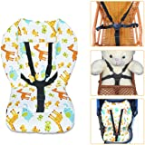 High Chair Cushion and Straps,High Chair Cushion Pad,Baby High Chair Seat Cushion Liner Pad Cover Mat and Highchair 5 Point H