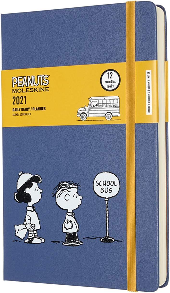 Moleskine - Peanuts Edición Limitada Lucy y Linus, Agenda Diaria 2020/2021 de 12 Meses, un Día por Página, Tapa Dura, Tamaño Grande de 13 x 21 cm, 400 Páginas