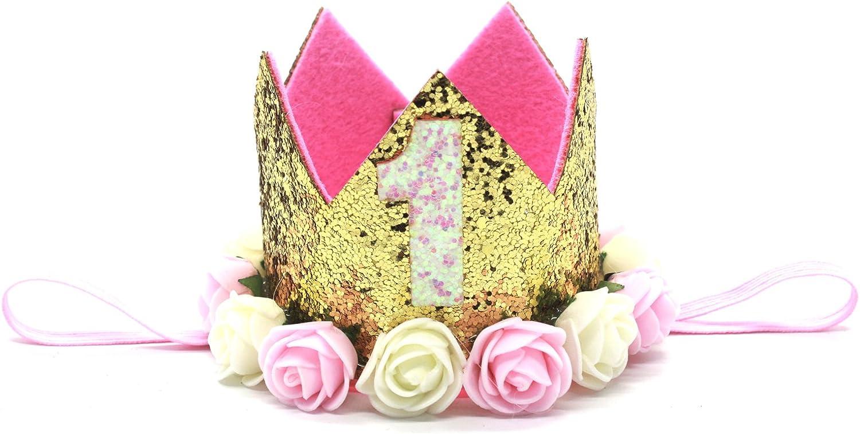 Amazon.com: Bebé para Primer Cumpleaños de corona, meiysh ...