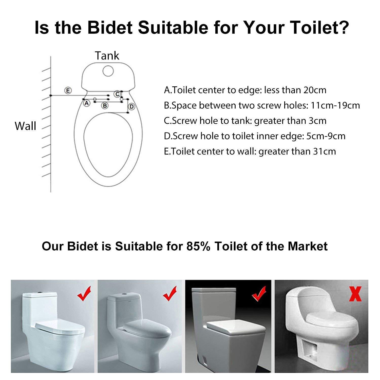 IBAMA Bidet Bidet per WC per ligiene Intima con Funzione di Pulizia Nuovo-02