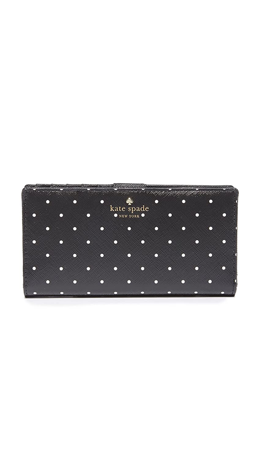 Kate Spade New York Women's Brooks Drive Stacy Wallet Black/Cream One Size PWRU5834-017