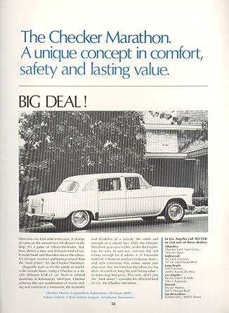 Big Deal Auto >> Amazon Com Checker Marathon Big Deal Car Ad 1967
