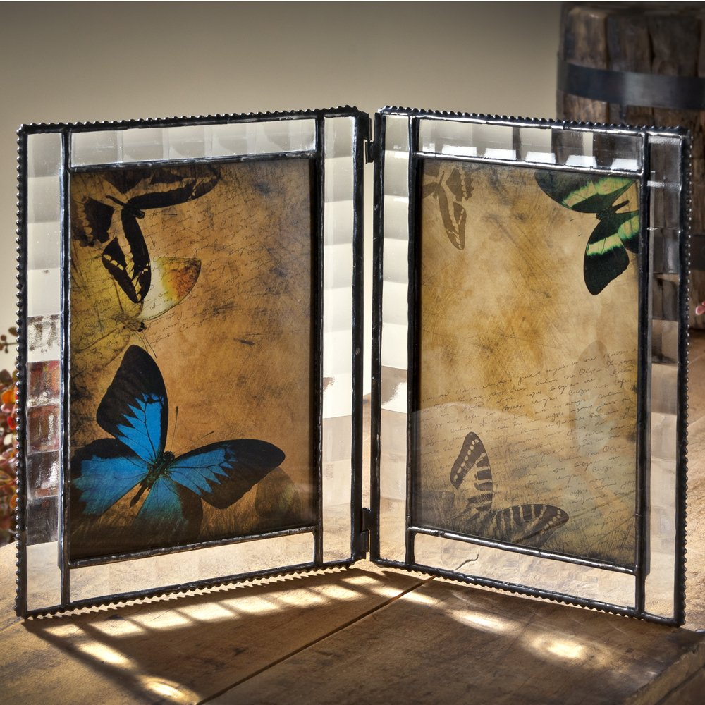 Amazon.com: J Devlin Pic 345-46-2 Double Hinged Glass Picture Frame ...
