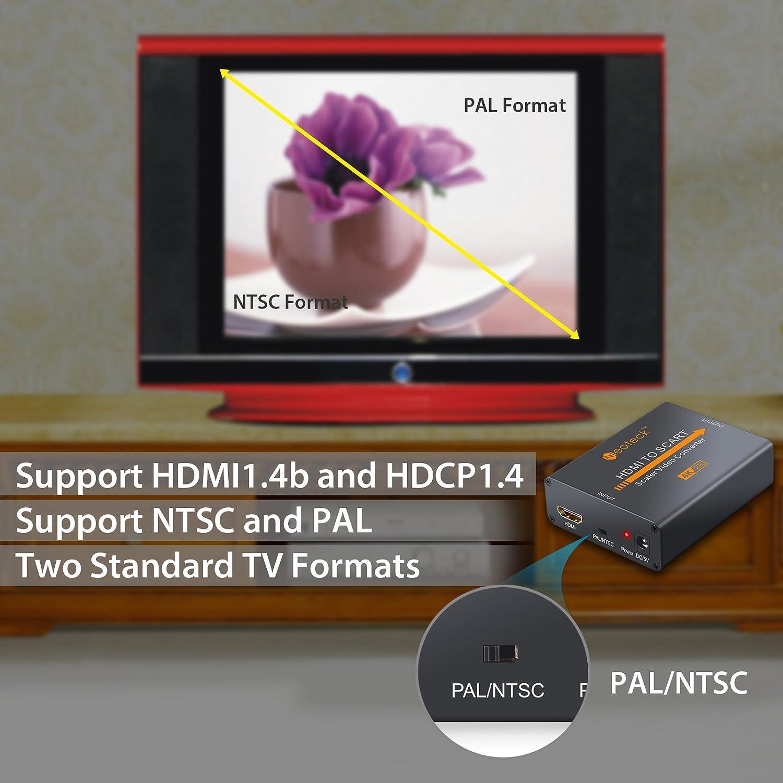neoteck Aluminium 4 K HDMI zu Scart Konverter: Amazon.de: Elektronik