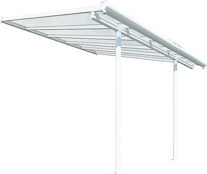 Palram SIERRA 3X3.05 - Funda para patio transparente, color blanco