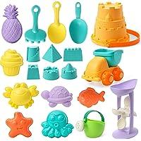 Beach Toys Kit for Kids Summer Beach Sand Play, Castle Buchet, Castle Sand Molds, Beach Shovel Rake, Sand Truck…